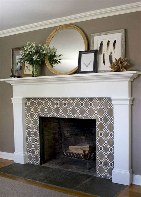 cool   modern farmhouse fireplace mantel decor ideas