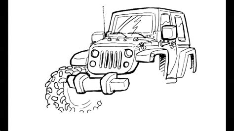 jeep drawing jeep jk how to draw jeeps