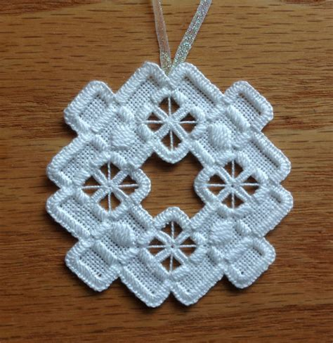 norwegian hardanger holiday ornament