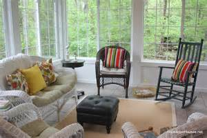 Sunroom Chairs Wicker In The Sunroom 4 11 Hooked On Houses