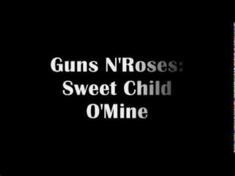 sweet child o mine testo e traduzione sweet child o mine lyrics