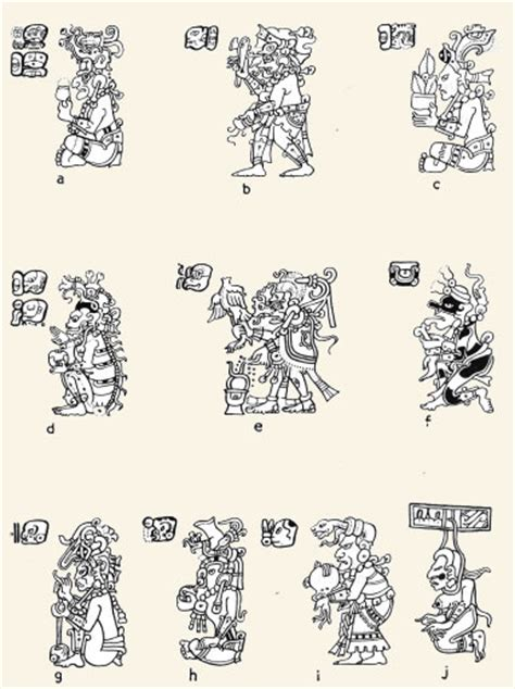 imagenes mayas con sus nombres dioses diosas diccionario de s 237 mbolos y temas misteriosos