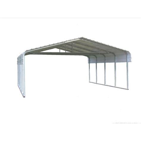 Carport Kits Lowes shop versatube 20 ft x 20 ft x 7 ft metal 2 car carport at lowes