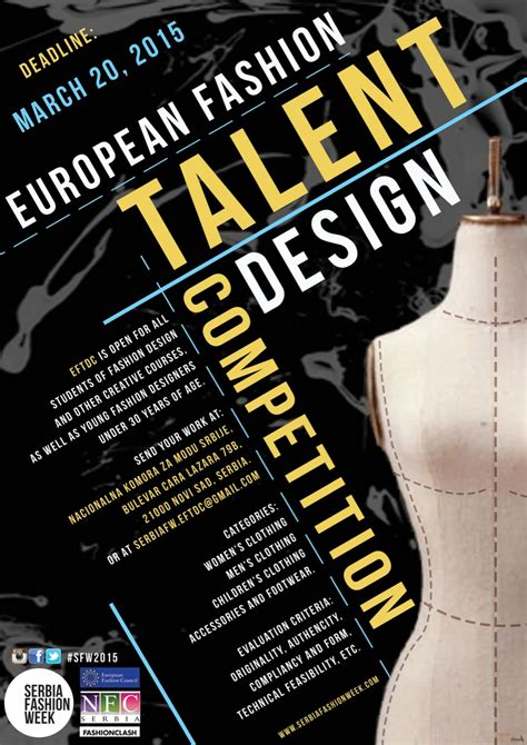 design competition europe european fashion talents design competition serbia