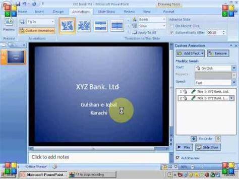 tutorial powerpoint animation 2007 ms powerpoint 2007 tutorial in hindi slide transition