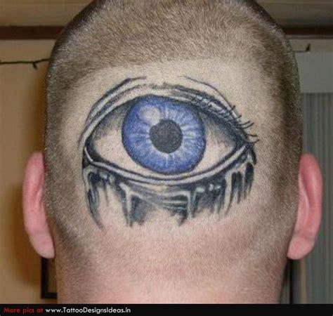 eyeball tattoo on back of head eye tattoo on man back head