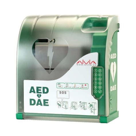 dl0117 aivia 210 lockable aed cabinet with alarm and heating