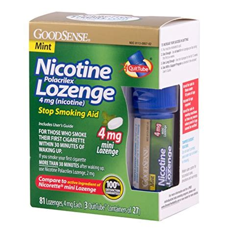 Detox From Nicotine Lozenges by Goodsense Mini Nicotine Polacrilex Lozenge Mint 4mg 81