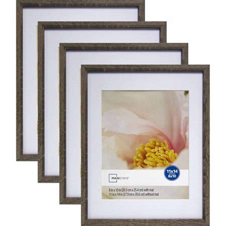 11 X 14 Frame With 8 X 10 Mat by Mainstays Linear 11 Quot X 14 Quot Matted To 8 Quot X 10 Quot Rustic Frame