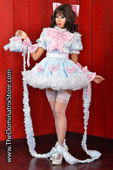 ans bett gekettet beebee satin sissy dress sissy dresses to