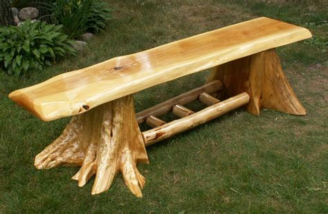 how to make a cedar bench log stump bench log benches log stump bench