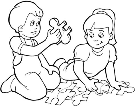 coloring pages play puzzle coloring page coloring