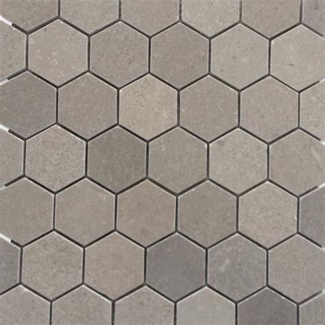 "Shop For Lady Gray 2"" Hexagon Honed Marble Tile at TileBar.com"