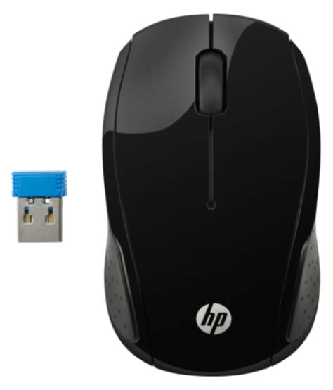 hp 200 black wireless mouse buy hp 200 black wireless mouse at low price in india