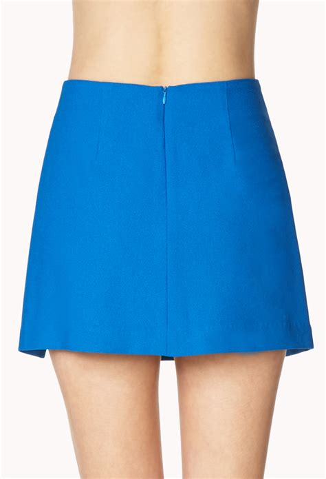 Origami Mini Skirt - forever 21 posh origami skirt in blue lyst