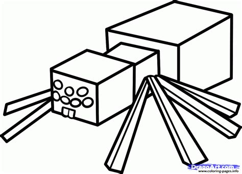 Minecraft Spider Coloring Pages minecraft coloring spider coloring pages printable