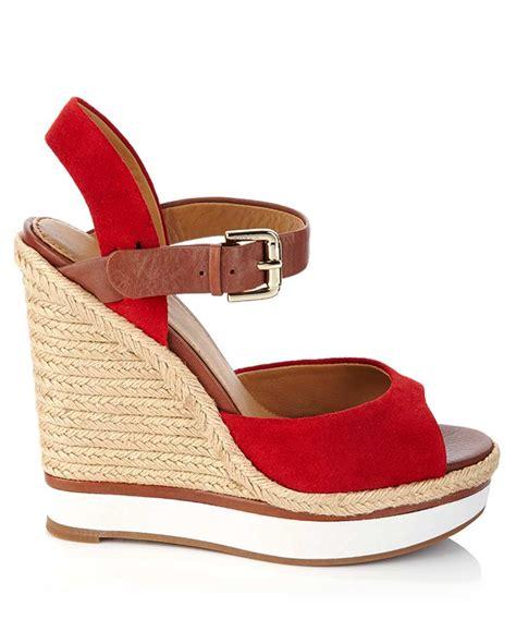 furla geramium suede wedges designer footwear sale furla