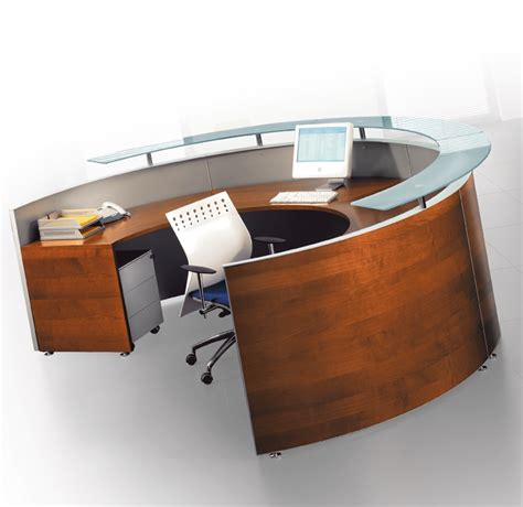 Circular Office Desk Bralco Curved Modular Reception Desk 4 Office Furniture