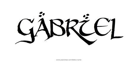 gabriel tattoo gabriel name designs