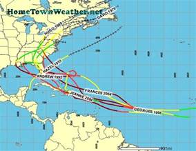 caribbean hurricane paths history map pictures