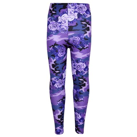 B 001 Print Premium Legging legging camo floral print fashion age 7 13 years ebay