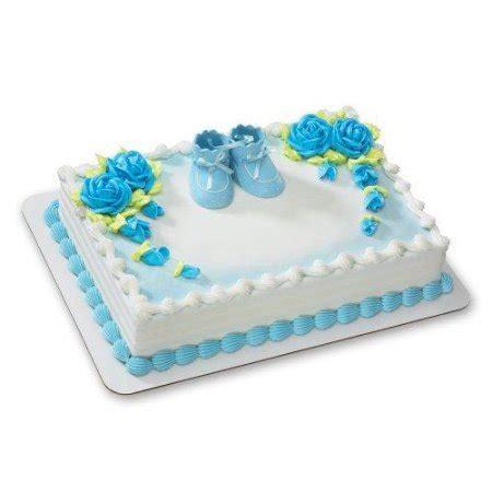 blue baby booties decoset cake decoration walmart