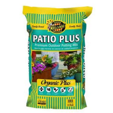 patio plus soil kellogg garden organics 1 5 cu ft patio plus premium