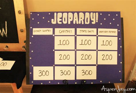 Game Night Party Ideas Aspen Jay Ideas For Jeopardy Categories