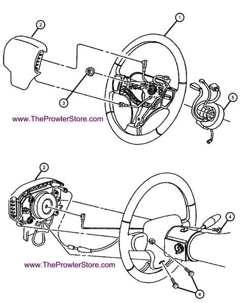 steering wheel parts diagram chrysler plymouth prowler factory parts steering wheel