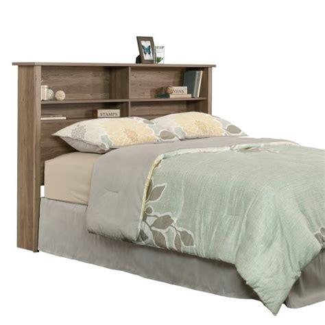 oak headboards queen queen bookcase headboard in salt oak 419321