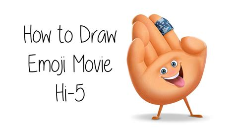 how to a to high five how to draw hi 5 from the emoji 2017