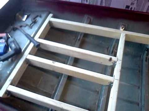 aluminum framing for jon boat deck jon boat casting deck frame youtube