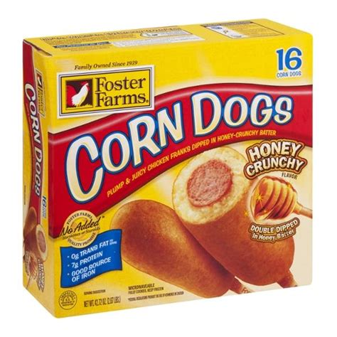 foster farms corn dogs foster farms honey crunchy corn dogs 16ct hy vee aisles grocery shopping