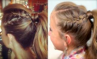 hair styles in two ponies double french high ponytail cute ponytail ideas