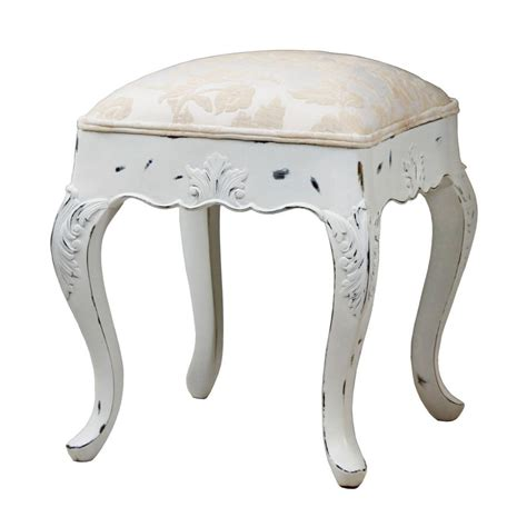 Silver Dressing Table Stool by Ripple Dressing Table Stool In White Or Silver By Out