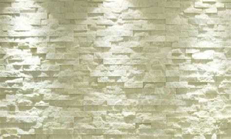 white quartz stacked stone veneer for feature walls