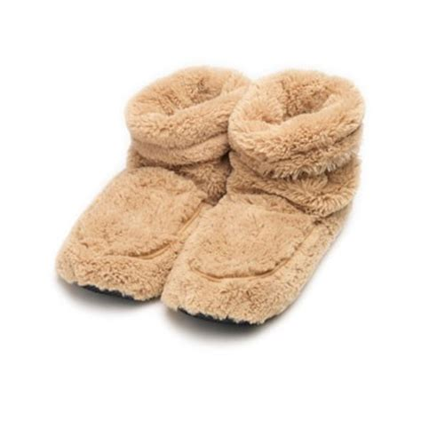 microwavable boot slippers warmers boot slippers beige microwavable