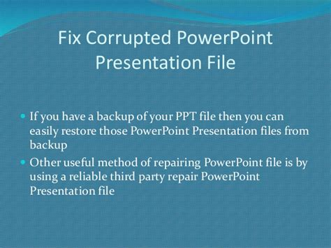 repair powerpoint file how to repair corrupted powerpoint file