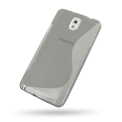 Softcase Samsung Note 3 samsung galaxy note 3 soft grey s shape pattern pdair 10