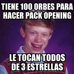 100 Memes In 3 Minutes - meme bad luck brian tiene 100 orbes para hacer pack