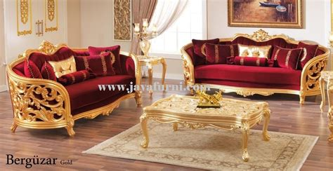 Set Tamu Motif Flora set sofa ruang tamu mewah ukir cat emas jayafurni mebel jepara jayafurni mebel jepara
