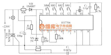 an integrated light circuit multifunction dimming light circuit with special integrated circuit ht7706 control circuit