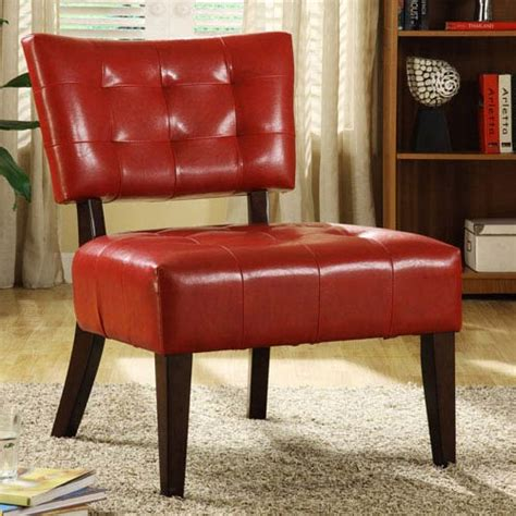 armless faux leather chair tufted faux leather accent chair homehills armless