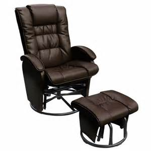 Rocker Glider Recliner With Ottoman Glider Ottoman Combo Push Back Bonded Leather Recliner Glider Rocker With Swivel And Ottoman