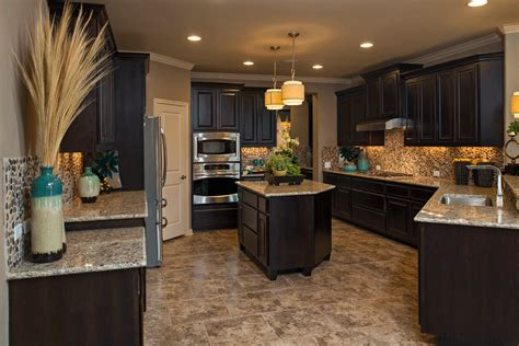 color schemes for kitchens with dark cabinets model kitchens dark cabinets and light tile finish