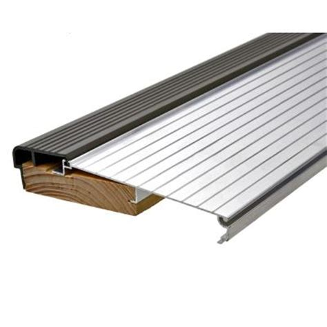 How To Replace A Metal Threshold On An Exterior Door King E O 5 5 8 In X 3 Ft Silver Brown Fixed Sill Threshold Ts36a The Home Depot