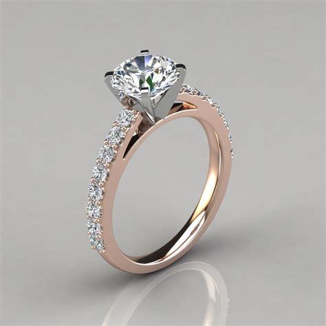 cut cathedral style engagement ring puregemsjewels