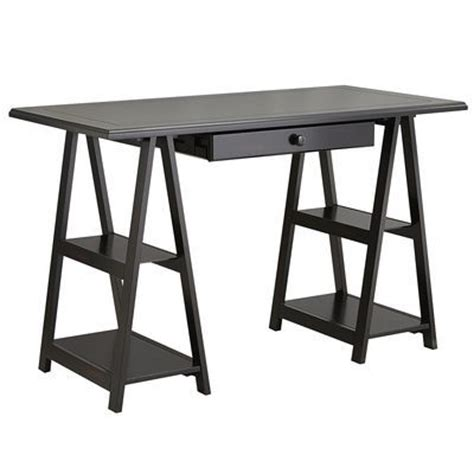 Sawhorse Desk With Drawers by Cavaletto Desk Drawer Kit Rubbed Black Loft Office
