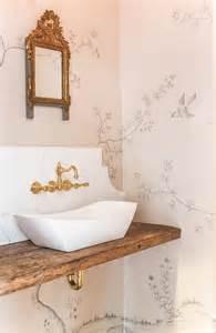 Bathroom Lining Wallpaper Whimsical Powder Room Boasts Walls Clad In Fromental