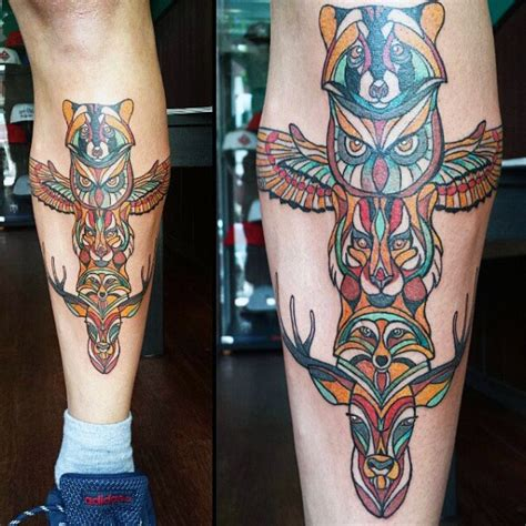 totem tattoo designs 70 totem pole designs for carved creation ink